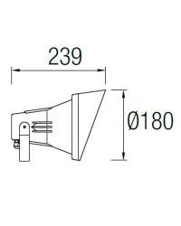 Faretto E27 PAR38 Leds-C4 ESPARTA grigio urbano