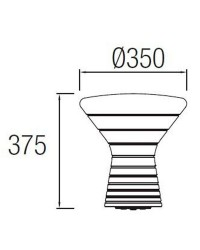 Lampada decorativa E27 Leds-C4 JEMBE bianco