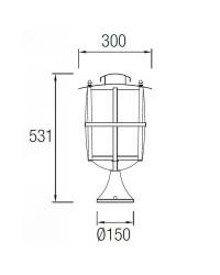 Lampada E27 Leds-C4 RUSTICA marrone ossido
