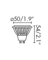 Lampadine LED Faro GU10 LED 7W CRI90 40° 3000K 500Lm