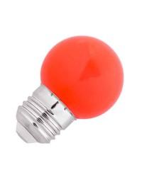 Lampadina LED Faro G45 LED E27 1W Rossa