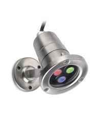 Faretto sommergibile LED 6.5W 240lm RGB Leds-C4 AQUA acciaio 316 IP68