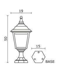Lampioncino da esterno CLIC-CLAC 4 IP44 E27 60W Nero