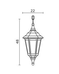 Lampada a sospensione da esterno CLIC-CLAC 6 IP44 E27 60W Bianco