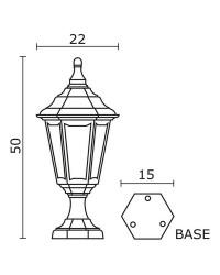 Lampioncino da esterno CLIC-CLAC 6 IP44 E27 60W Nero
