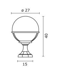 Lampioncino da esterno CLIC-CLAC Boccia IP43 E27 60W Nero