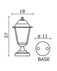 Lampada da esterno Christer ELITE 4 IP43 E27 Opaco Bianco