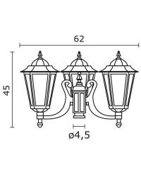 Boccia per Lampioni 3L. ELITE 6 IP43 E27 Opaco Nero