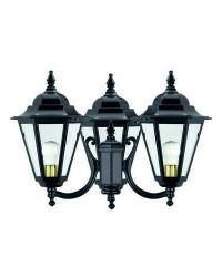 Boccia per Lampioni 3L. ELITE 6 IP43 E27 Trasparente Nero