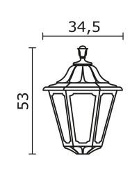Boccia per Lampioni INDURA BIG 6 IP55 E27 Nero