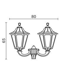 Boccia per Lampioni 2L. INDURA BIG 6 IP55 E27 Nero
