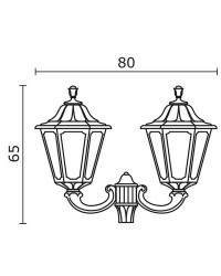 Boccia per Lampioni 2L. INDURA BIG 6 IP65 GX53 Nero