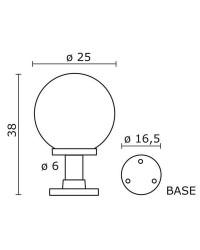 Lampioncino da esterno INDURA Boccia IP55 E27 Nero
