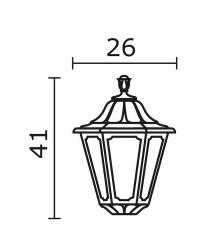 Boccia per Lampioni INDURA MEDIUM 6 IP55 E27 Nero