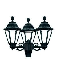 Boccia per Lampioni 3L. INDURA MEDIUM 6 IP55 E27 Nero