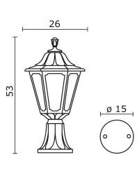 Lampioncino da esterno INDURA MEDIUM 6 IP55 E27 Nero