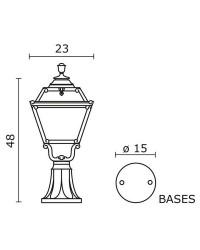 Lampioncino da giardino INDURA MINI 4 IP55 E27 Nero