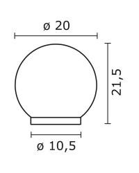 Lampioncino da esterno VIC IP43 E27 Ø20cm Nero