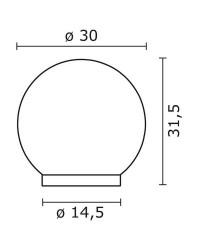 Lampioncino da esterno VIC IP43 E27 Ø30cm Nero