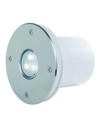 Lampada a incasso da esterno PAL SLIM IP68 LED 4W RGB Inox