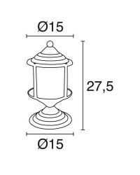 Lampioncino da esterno ILIKI IP44 E27 Nero