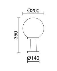 Lampioncini da giardino ALIA IP43 40W E27 Nero
