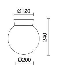 Lampada da esterno ALIA IP43 40W E27 Nero