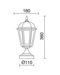 Lampioncini da giardino BAMBO IP43 70W E27 Nero