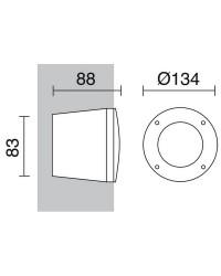 Lampade a incasso da esterno Circolare parete DEVON GX53 Nero