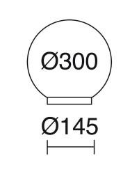 Lampada da esterno GLOU IP44 Ø30 60W E27 Nero