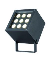 Proiettori da esterno BARNI IP65 LED 9W 541lm 3000K Antracite