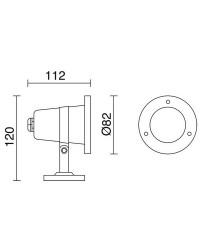 Proiettori da esterno Sommergibile SEDNA IP68 12V GU5,3 Inox