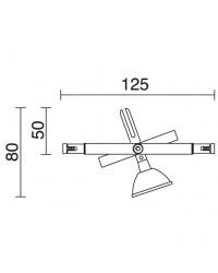 Proiettore DEVAS KABLE12 QR-CB GU5,3 Cromo