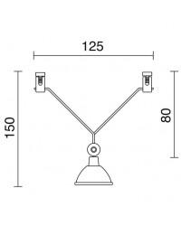 Proiettore GALADA KABLE12 QR-CB GU5,3 Cromo