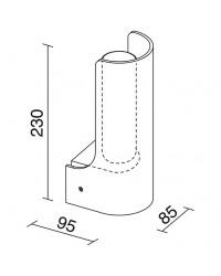Applique bagno UVEG IP44 E14 vetro opal