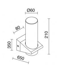 Applique bagno bath IP44 E14 cromo / vetro