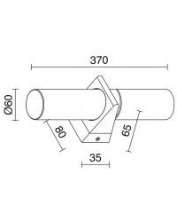 Applique bagno bath IP44 2xE14 cromo / vetro
