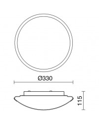 Plafoniera CARPI IP44 2xE27 cromo / vetro opaco