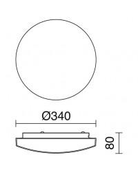 Plafoniera BORGO IP44 E27x3 vetro opaco