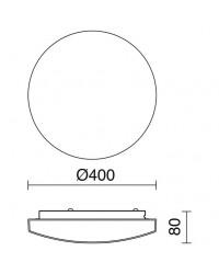 Plafoniera BORGO IP44 E27x4 vetro opaco