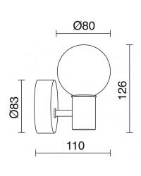 Applique bagno SUN LED 3W 3000K cromo / vetro 240lm