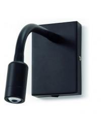 Applique LECTOR IP20 LED 3W 200lm nero 3000K