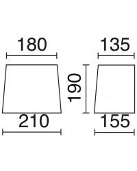 Paralume per Lampada Applique conico 21 cm cotone Bianco