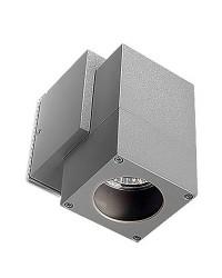 Applique GU10 in alluminio color grigio - ICARO