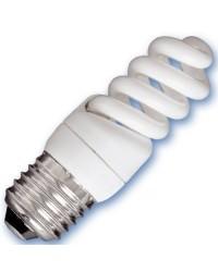 Scatola da 10 lampadine Micro spirale a basso consumo 9W E27 2700K Luce calda