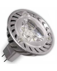 Lampadine LED MR16 G5,3 3,6W 190lm (3x1W) 38º 2700k Luce calda