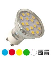 Scatola da 10 lampadine LED decorative GU10, bianco