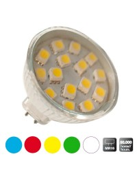 Scatola da 10 lampadine LED decorative MR16, bianco