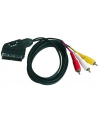 Collegamento Audio e stereo - video . Euroconnettore SCART maschio a maschio 21 PIN RCA3 IN (entrata)