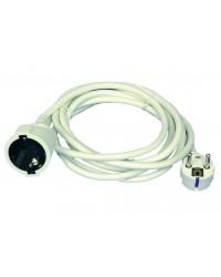 Prolunga elettrica 3mt 2P + T Schuko e cavo H05W-F color bianco